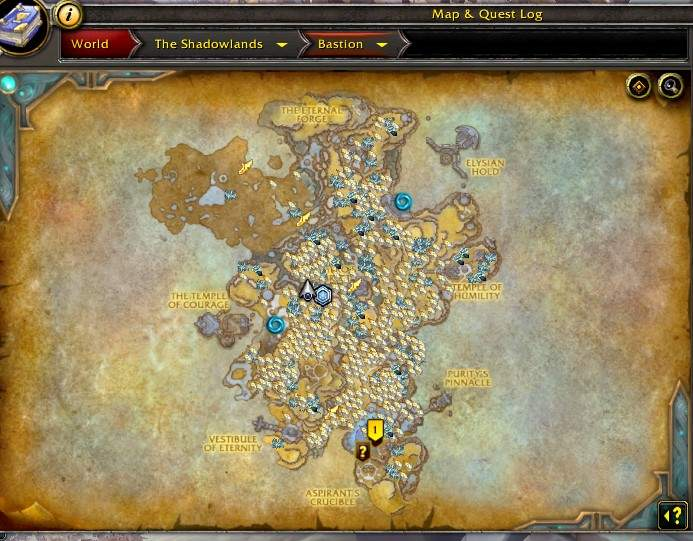 Bastion Worlf od Warcraft Shadowlands